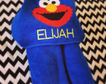 Elmo Hooded Towel
