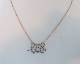 Copper Necklace, Metalwork, Copper Chain, Chain Necklace, Necklace