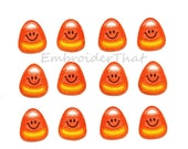 UNCUT Cute Candy Corn felt applique embellishments (12)
