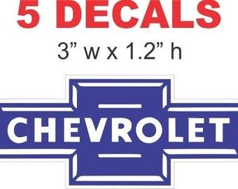 5 Vintage Style  Chevrolet Decals