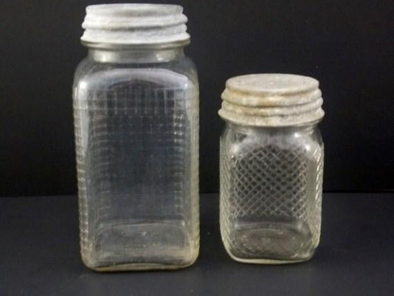1 Quart 1 Pint Hazel Atlas Jars Both With Atlas Zinc Lids
