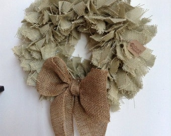 "17"", Spring Wreath, Summer Wreath, Easter Wreath, Green Wreath, Burlap St. Patricks Day Wreath, Holiday Wreath, Green Burlap Wreath"
