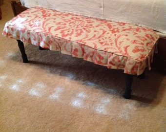 Bench or stool slipcover