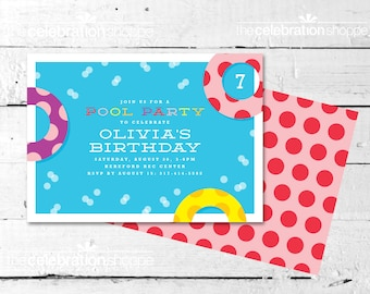 POOL PARTY Birthday INVITATION - The Celebration Shoppe