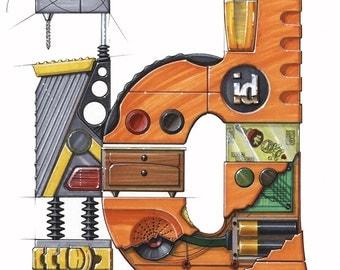 Industrial Design Logo Rendering 11 x 14 - Industrial Design - Industrial Designer - Design - Design Rendering - ID - Marker Renderings