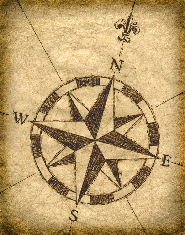 Compass, Compass rose and Roses on Pinterest