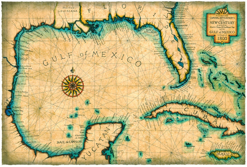Map Of Florida Keys And Caribbean You Can See A Map Of Many - Us parchment map