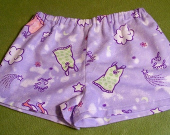 Girly Girl Sleep Shorts - All Things Girly - Size 4/5 - An Original Lucy Littles Creation