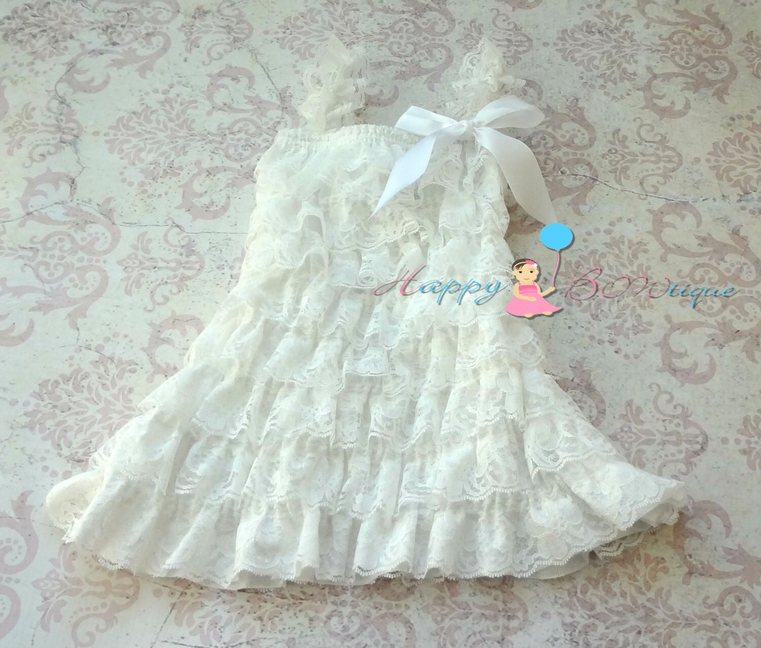 Flower girl dress baby girls dress Victorian by HappyBOWtique