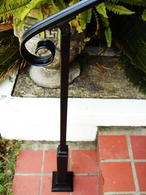 5 FT Wrought Iron Handrail Step rail Stair rail by ...