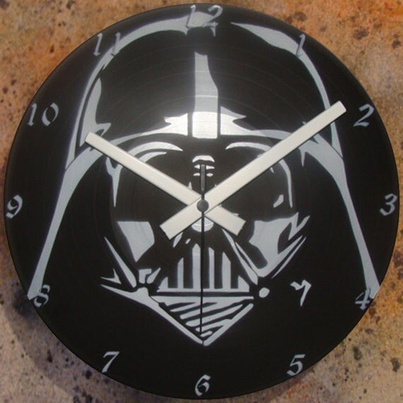 Items Similar To Darth Vader 2 Wall Clock Lp Record