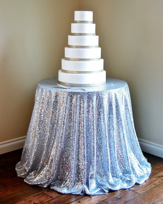 SILVER SEQUIN TABLECLOTH Table Runner by ModernCelebrations