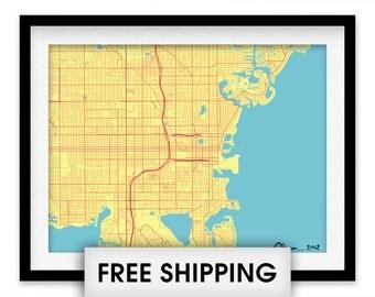 St Petersburg Florida Map Print - Choose your color
