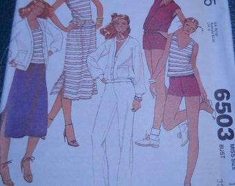 McCalls 6503 - Summer Sewing - Pattern Patter - Uncut Pattern - Easy Sewing Pattern - Collectible Patterns - Patterns Tutorials