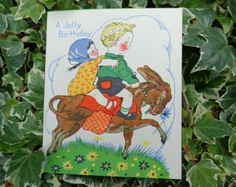 Vintage 1940's birthday card never used complete with original envelope