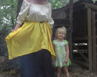 Renaissance Wench, Pirate, Viking, Celtic, Fairy, Womens Overskirt Can Be Custom Made in Any Color