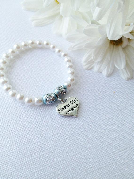 Bridal Flower Bracelet : Flower girl bracelet wedding party jewelry bridal