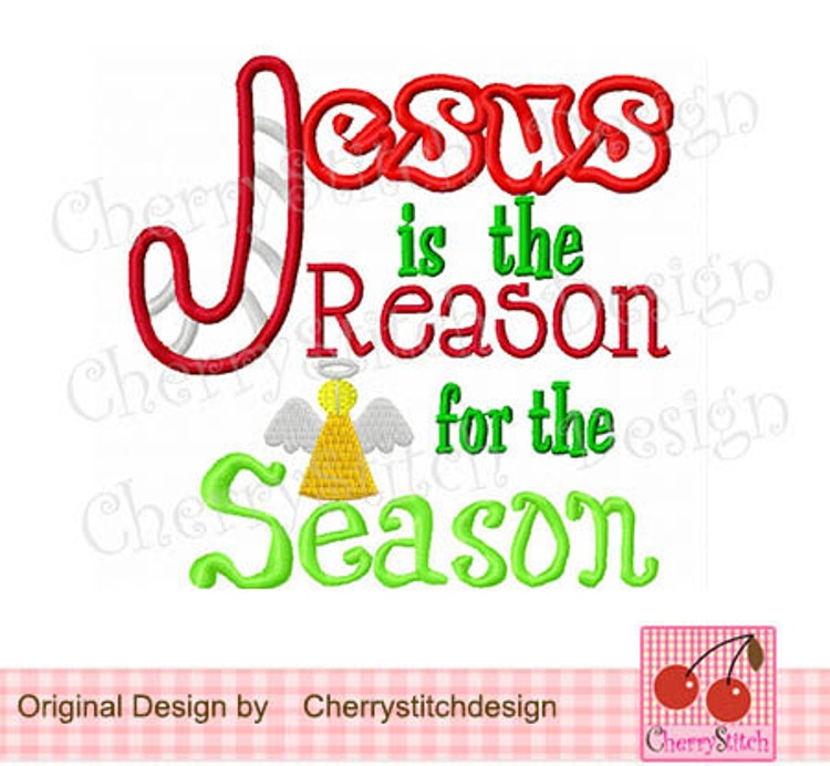 Jesus is the Reason for the Season-Christmas by CherryStitchDesign
