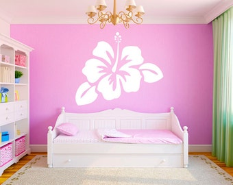 "Hibiscus Flower 36""x30"" Vinyl Wall Decal Graphics Girls Bedroom Living Room Home Decor"