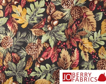 Camden Fall Leaves and Berries Fabric