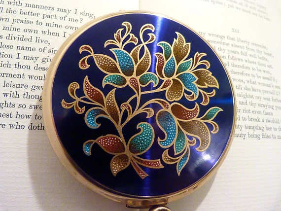 "Vintage powder compacts vintage Stratton compact Stratton ""Mini- Convertible"" powder compact enamel compacts compacts for sale purse mirror"