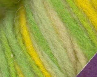 Mango Moon Wooly 100% wool yarn Lemon/Lime