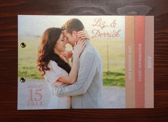 WEDDING INVITATION BOOKLET By RedCheeksDesign On Etsy