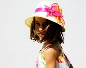 Sale, Summer hat for girls, Girls beach hat, kids summer hat - RedPepperHats