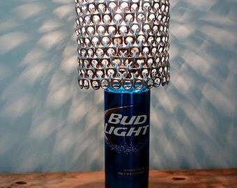 Giant Bud Light Beer Can Lamp With Pull Tab Lamp Shade - The Mancave Essential