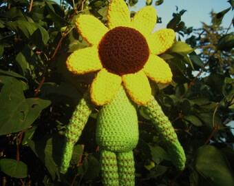 Sunflower -handmade crochet, made to order