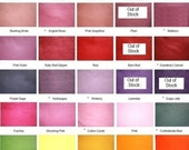 SALE - 25 PERCENT OFF- Wool Felt Sheets - 24 Pieces - 9x12 inch Wool Felt Sheets - Your Choice of Colors - 20 to 35% Wool