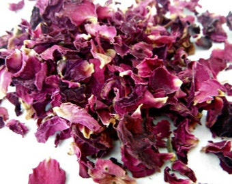 EDIBLE ROSE PETALS, 1 Cup, 2 Cups, 3 Cups // Pink Rose Petal Tea, Dried Culinary