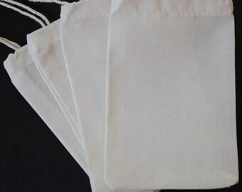 "150 4""x6"" Organic COTTON MUSLIN Bags 10x15cm Bulk Biodegradable Ecofriendly Packaging Culinary Reusable Jewelry Herb Favor Tea Soap Sachet"