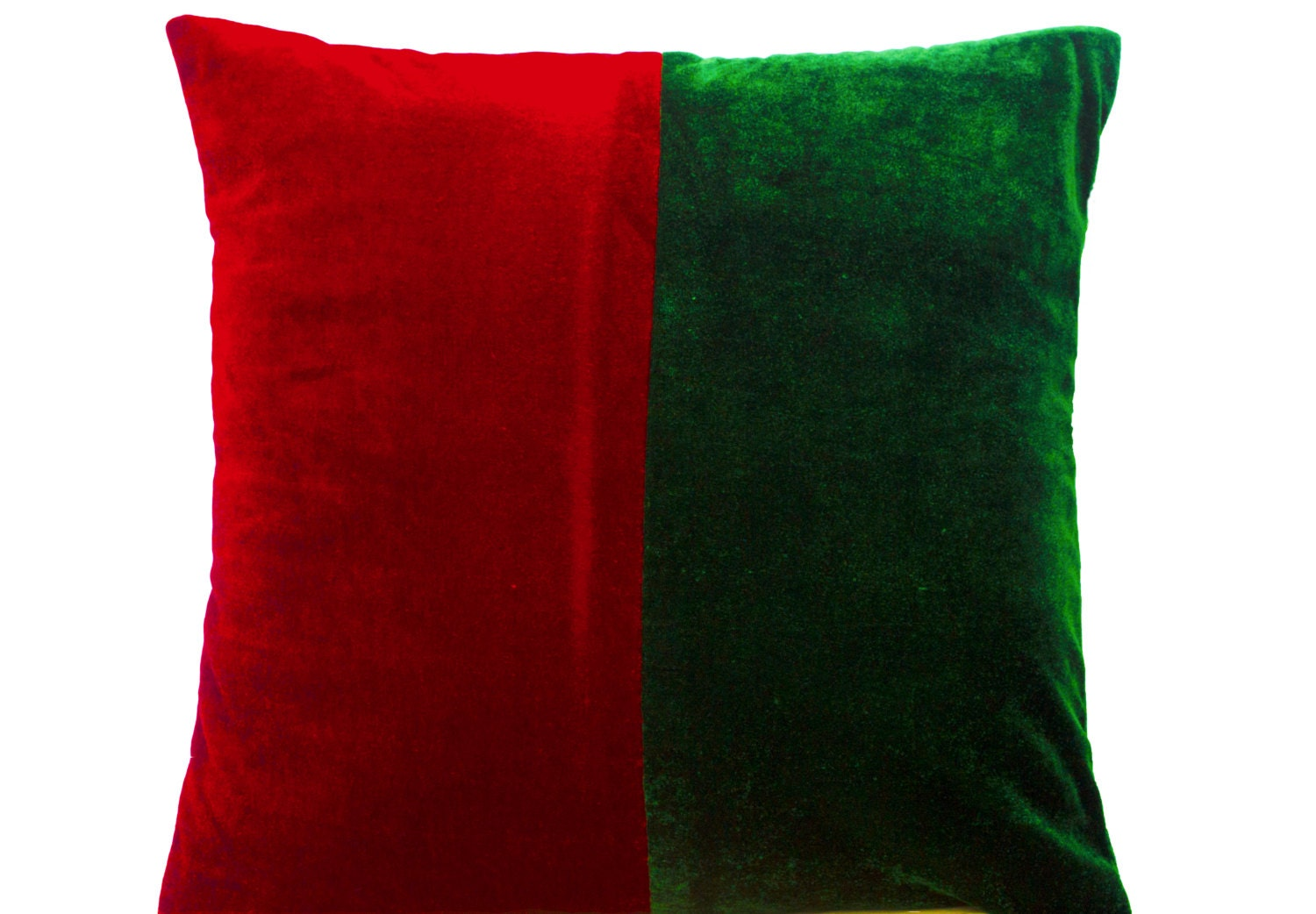Red Green Throw Pillow : Decorative Pillow Cover in Red Green Velvet Wedding Decor