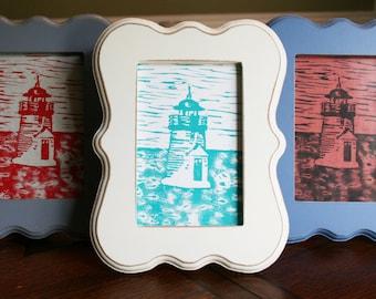 Nantucket Lighthouse Linoleum Prints