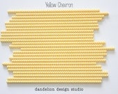 Buy 2, Get 1 FREE!!!     YELLOW Chevron Paper Straws - Pack of 25 - Dandelion Design Studio