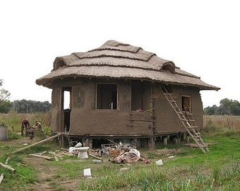 Shelter Housing Earth Homes Houses Construction House Primitive Mud Bricks Adobe