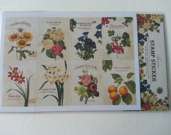 Stamp Stickers Set F - 2 Sheets