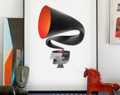 Voices. lllustration art giclée print signed by the artist. A2 poster.