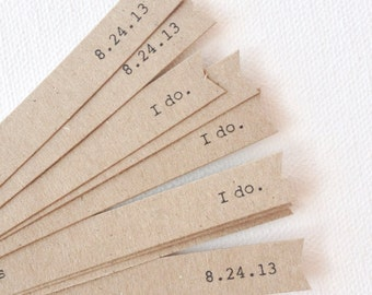 Straw flags - wedding straw flags - kraft brown wedding decorations - party flags - cupcake toppers