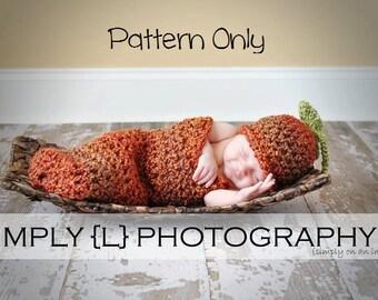 Newborn Crochet Pattern, Baby Crochet Pattern, Newborn Baby Cocoon Pattern, Crochet Baby Hat Pattern, Crochet Pattern, Cocoon Set Pattern