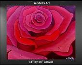 Valentine Rose on Canvas