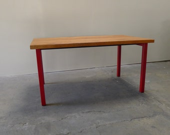 """Hand crafted   reclaimed wood and metal dining table 36""""x61""""x30""""h"""