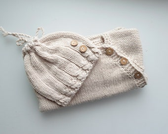 Newborn boy Coming home outfits, gender neutral, baby girl, baby shower gifts, new baby gift, baby knit set, take home outfit,