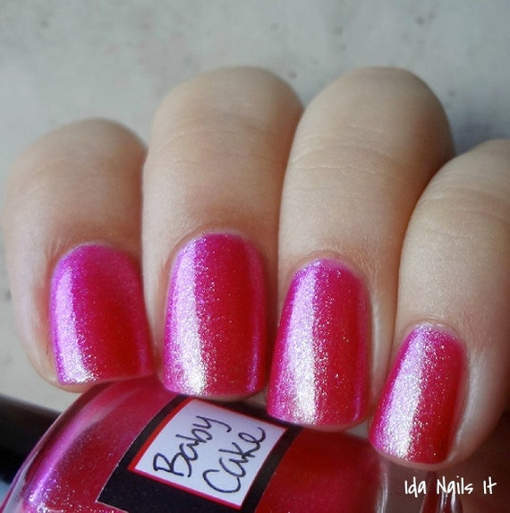 BABY CAKE. Valentine's Day hot pink nail polish. pink