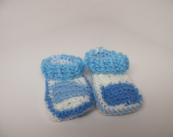 Shades of blue booties