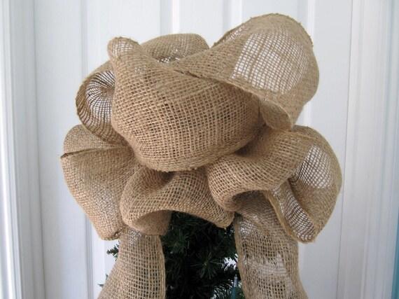 Burlap Christmas Tree Topper Bow Burlap Tree Top Bow 4 Foot