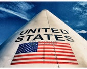Aviation Photography, Nasa Space Capsule Badging: USA, Metallic Photographic Print