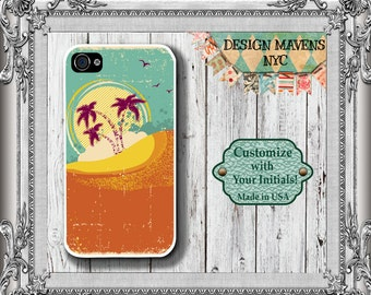 Tropical Island iPhone Case, Beach iPhone Case, iPhone 4, 4s, iPhone 5, 5s, iPhone 5c, iPhone 6, 6s, 6 Plus, SE, iPhone 7, 7 Plus