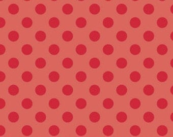 "108"" wide quilt backing - red dots"